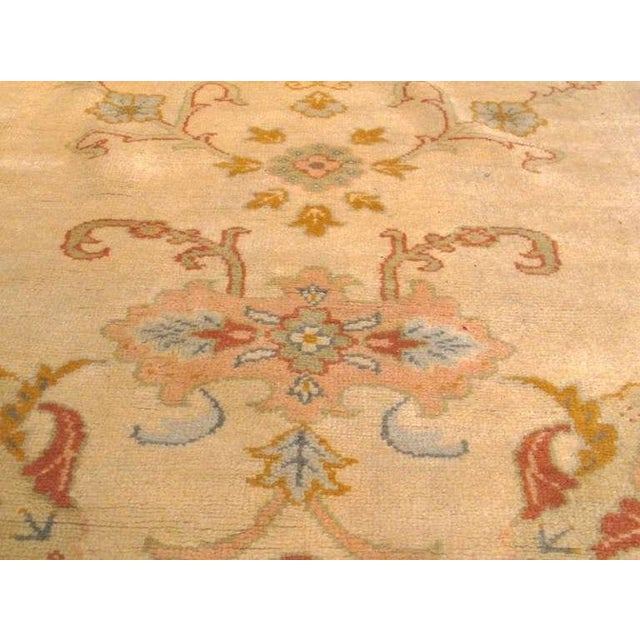 Mid 19th Century Oushak Carpet with Delicate Palette For Sale - Image 5 of 7