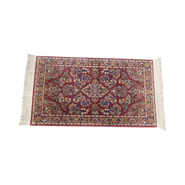 Karastan Red Sarouk #785 Rug 5' x 2' Multicolor Area Throw Rug For Sale - Image 13 of 13