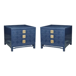 Pair of Hollywood Regency Parzinger Style Side Tables For Sale