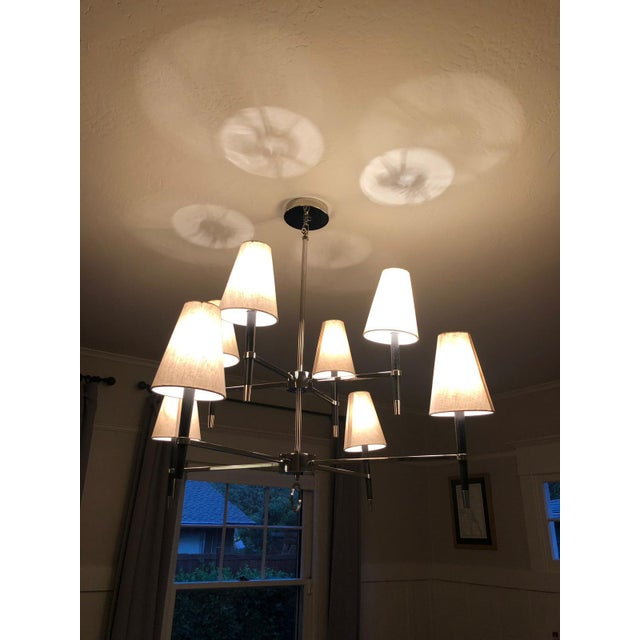 Perfect condition as new feature lighting unit from Jonathan Adler Two Tier Chandelier