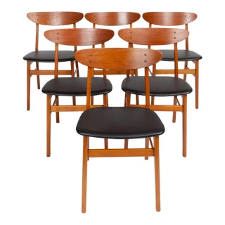Vintage Danish Modern Farstrup Møbelfabrik Teak Danish Modern Dining Chairs, 1960s ( Set of Six) For Sale