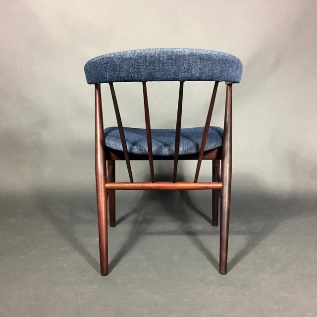 Rosewood Spindle-Back Armchair, Helge Sibast, Denmark 1950s For Sale - Image 4 of 10