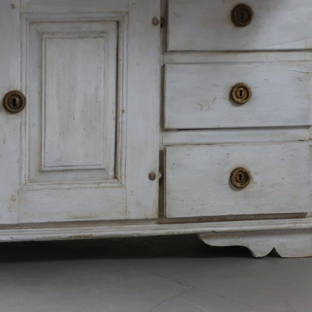 Gustavian (Swedish) 18th Century Painted Swedish Clock Desk For Sale - Image 3 of 5