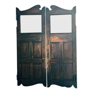 1890s Vintage Wooden Saloon Doors For Sale