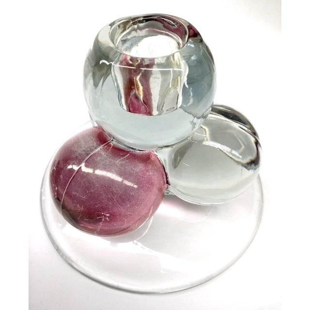 MCM Westmoreland Glass Ball Candle Holders - 2 For Sale - Image 4 of 8
