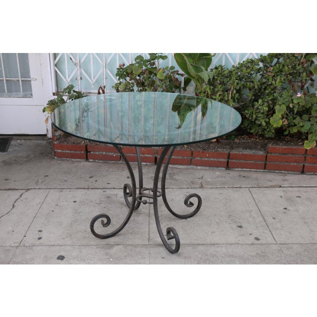 Italian Wrought Iron Dining Set For Sale In Los Angeles - Image 6 of 11