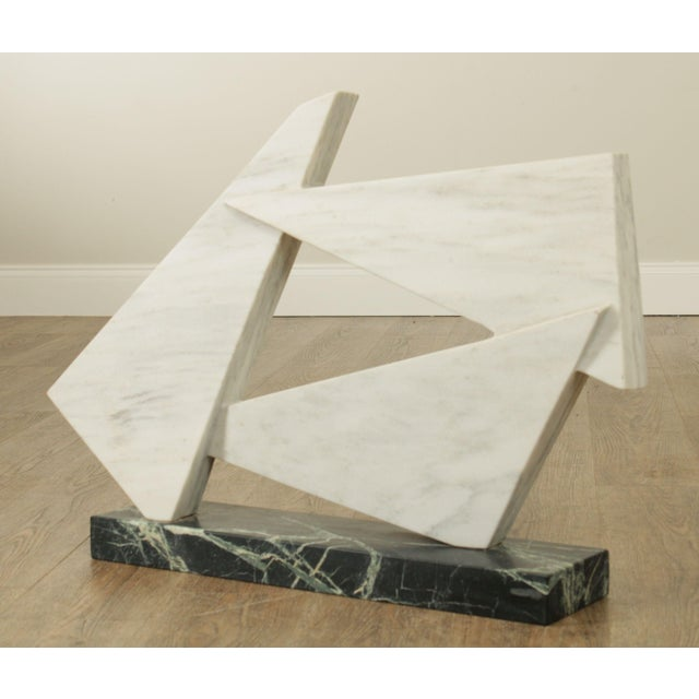 Mid-Century Modern Richard H. Bailey Geometric Marble Sculpture For Sale - Image 3 of 13