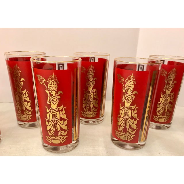 Mid-Century Modern Culver Highball Glasses - Set of 8 For Sale In Dallas - Image 6 of 10