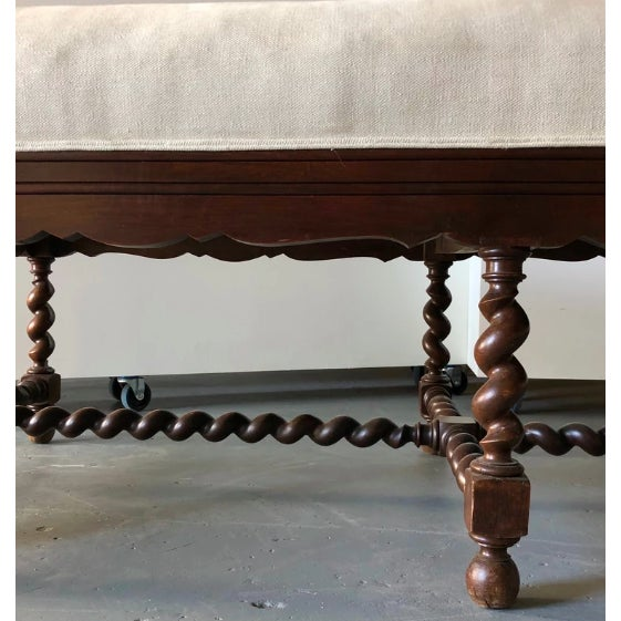 Wood Elizabethan-Style Chaise For Sale - Image 7 of 8