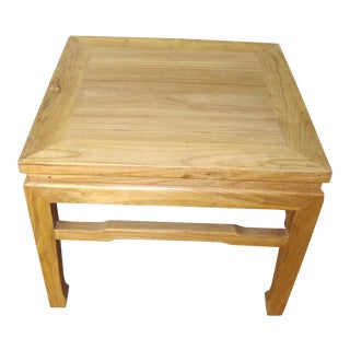 Elmwood Chinese Side Table For Sale