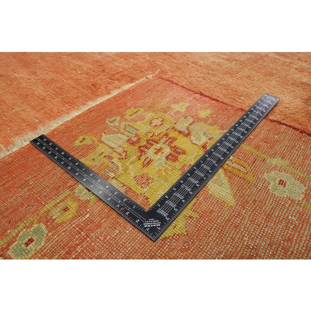 Late 19th Century Distressed Antique Turkish Oushak Rug - 14'07 X 15'05 For Sale - Image 5 of 10