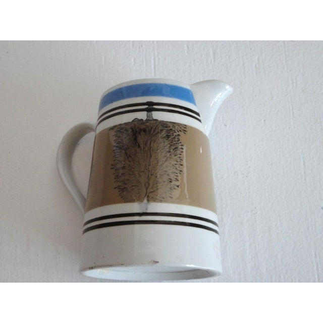19thc Mocha Seaweed Milk Pitcher For Sale In Los Angeles - Image 6 of 7