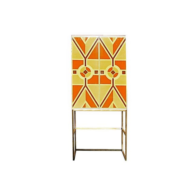 Tommi Parzinger, Custom Hand-Painted Bar Cabinet, Usa, 1960s For Sale - Image 9 of 9