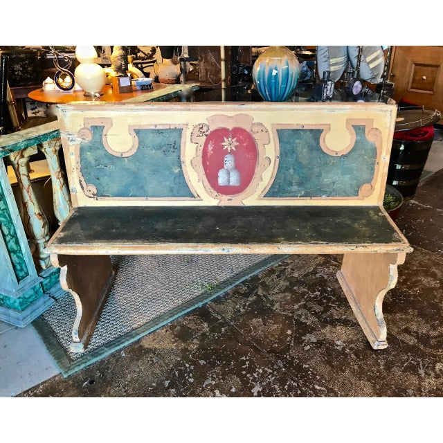 Green Late 18th Century Italian Tuscan Bench For Sale - Image 8 of 9