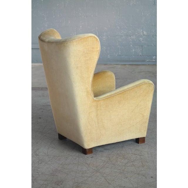 Copper Fritz Hansen Model 1672 Highback Mohair Lounge Chair Danish Midcentury 1940's For Sale - Image 8 of 14