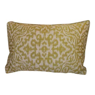 Green Silk Lumbar Pillow