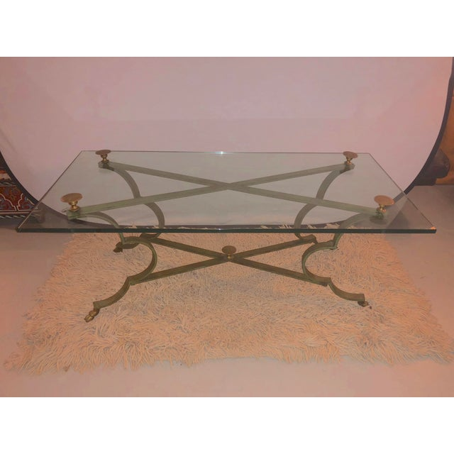 Gold Gilt Brass & Iron Coffee Table For Sale - Image 8 of 8