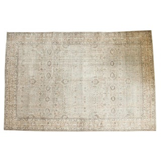 Distressed Oushak Carpet - 8' X 12'