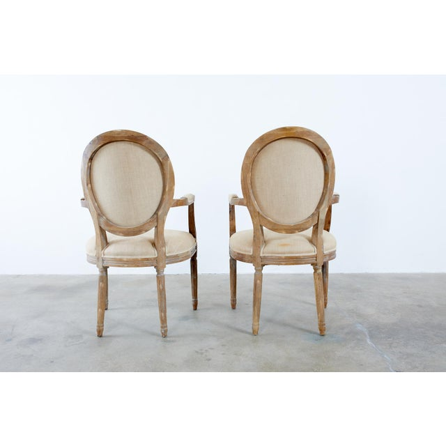 Tan French Louis XVI Style Oak Dining Chairs - Set of 10 For Sale - Image 8 of 13