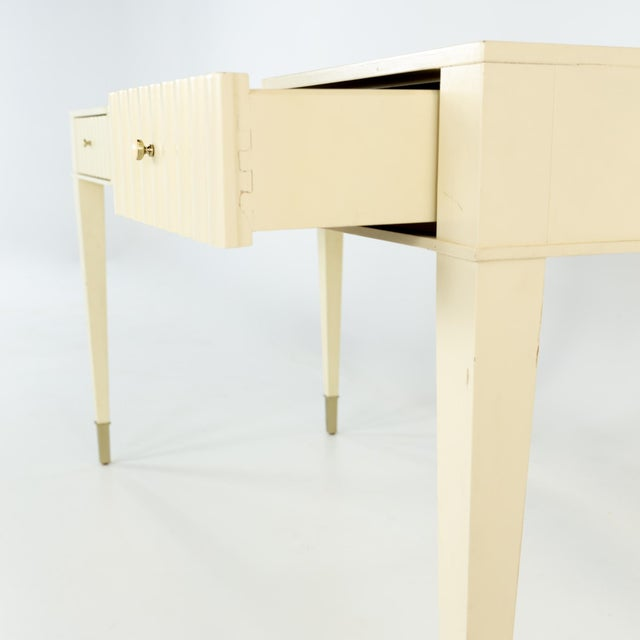 Barbara Barry for Baker Contemporary White Lacquer Desk For Sale In Chicago - Image 6 of 13
