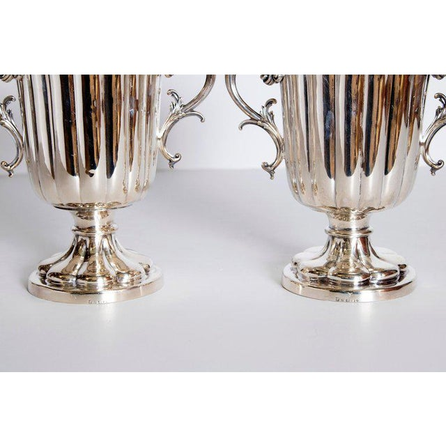 Mid-19th Century Pair of Silver Plate Ice Vases by Elkington & Co., England For Sale - Image 11 of 13