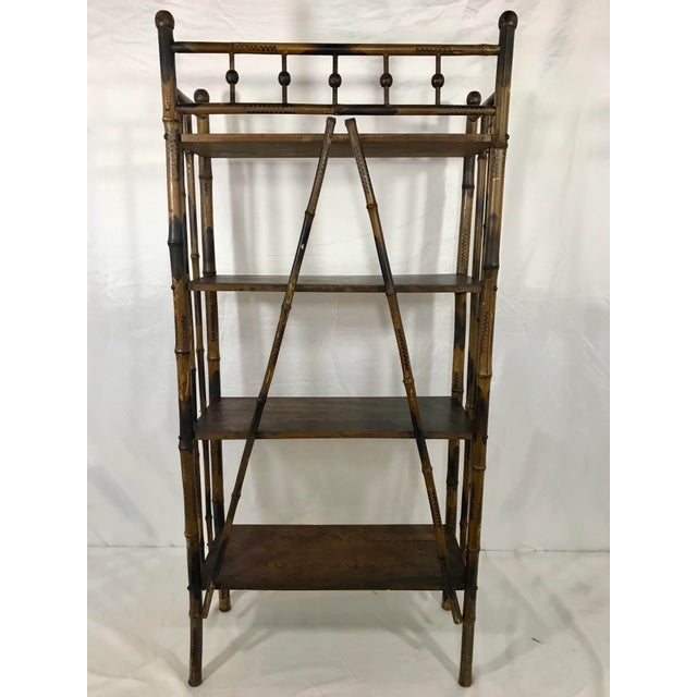 Late 19th Century 19th Century Bamboo Bookshelf For Sale - Image 5 of 7
