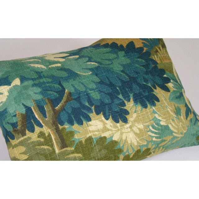 Verdure Print Linen Lumbar Pillow Cover For Sale - Image 4 of 8