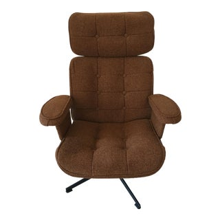 Mid-Century Homecrest Brown Tweed Rocker For Sale