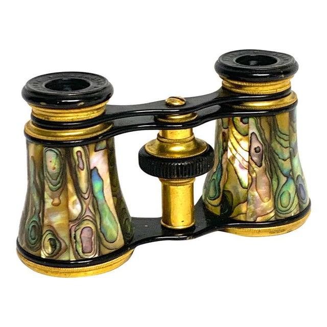 Metal Napoleon III Abalone and Gilt Bronze Opera Glasses For Sale - Image 7 of 7