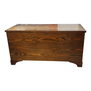 Vintage Rustic Handmade Cedar Storage Chest For Sale