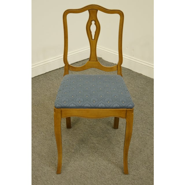 French Late 20th Century Vintage Drexel Heritage Country French Regency Side Chair For Sale - Image 3 of 11