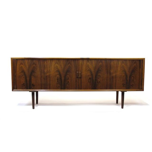 Arne Vodder for P. Olsen Sibast Mobler Rosewood Tambour Credenza Sideboard For Sale In San Francisco - Image 6 of 10