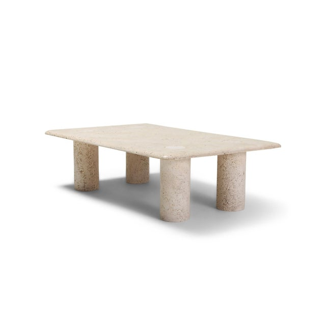 Angelo Mangiarotti Travertine Coffee Table for Up & Up - 1970s For Sale - Image 11 of 11