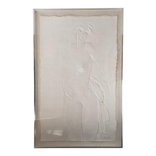"""1978 Contemporary """"The Dancer"""" Framed Cast Paper Original Artwork by Frank Gallo For Sale"""