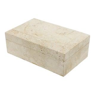 Postmodern Travertine Marble Box For Sale
