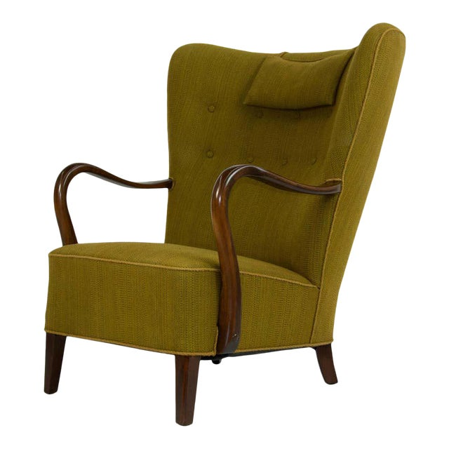 1940s Danish Lounge Chair by Alfred Christensen For Sale