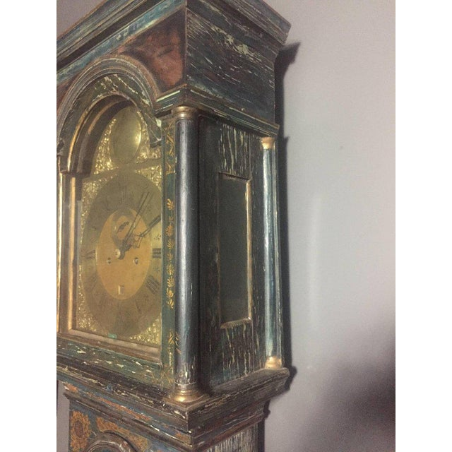 Late 18th Century English Chinoiserie Tall Case Clock For Sale In New York - Image 6 of 11