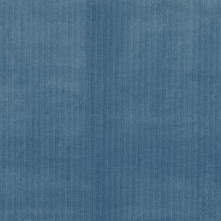 Schumacher Antique Strie Velvet Fabric in River For Sale