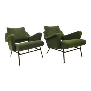 Pierre Guariche Pair of Mid-Century Modernist Lounge Chairs