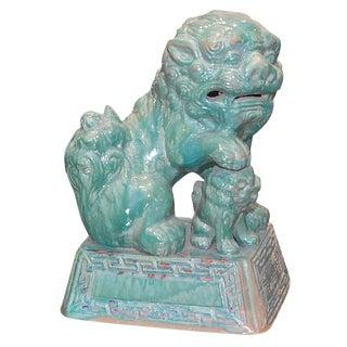 Tony Duquette Ceramic Foo Dog For Sale