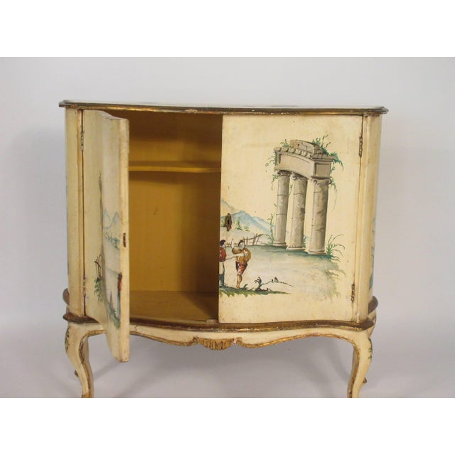 1960s Italian painted classical wood cabinet.