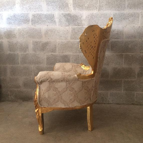 Antique Italian Rococo Style Chair For Sale - Image 4 of 6