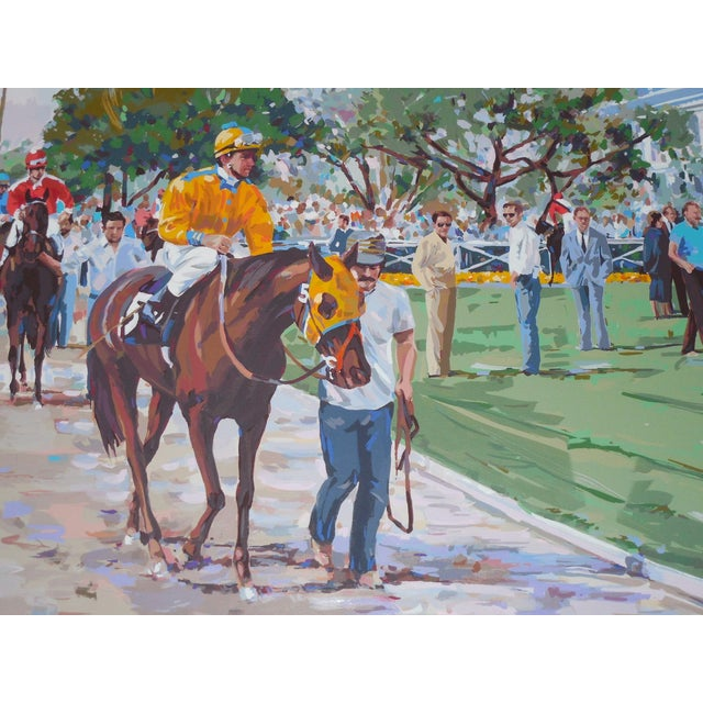 """Riders Up"" Signed Serigraph by Robert Schaar - Image 3 of 10"