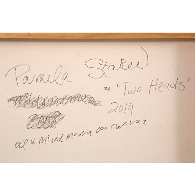 """Canvas Pamela Staker, """"Two Heads"""" For Sale - Image 7 of 8"""