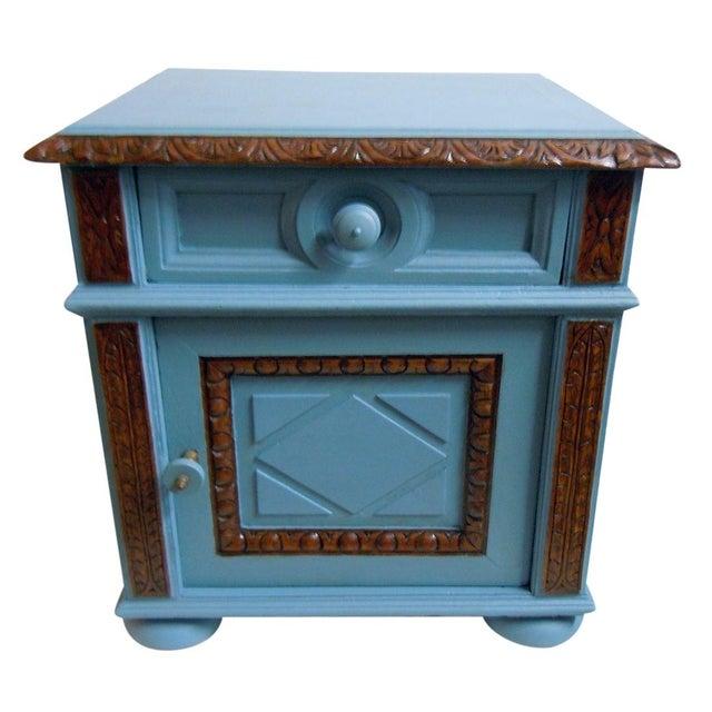 Blue Painted Mid-Century Nightstand - Image 1 of 9
