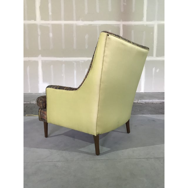 Cinnamon Lawrence Peaboby for Richardson / Nemschoff 1960s Mid Century Modern Scandinavian High Back Lounge Chair Model 9203 and Ottoman For Sale - Image 8 of 13