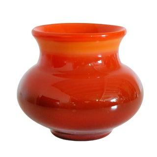 Vintage Swedish Ombre Art Glass Vase by Erik Höglund for Boda For Sale