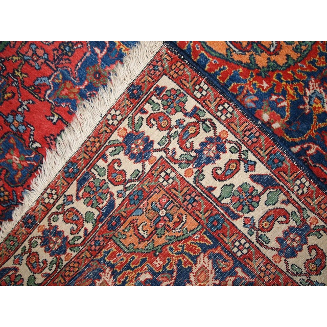 1970s Hand Made Vintage Persian Mashad Rug - 4′7″ × 6′4″ For Sale In New York - Image 6 of 10