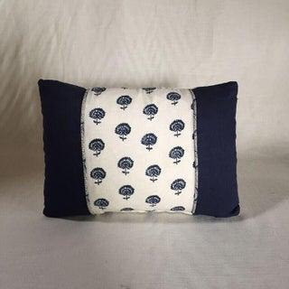 Kim Salmela Indigo Floral Patchwork Pillow Preview