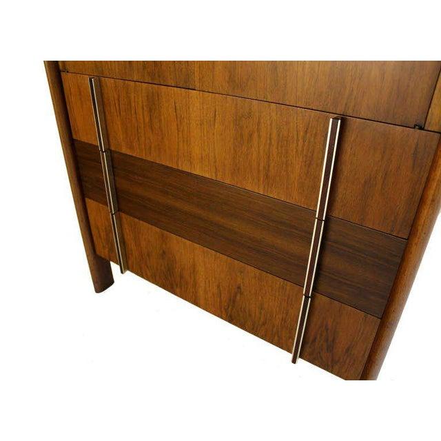 Mid-Century Modern John Widdicomb Mid-Century Modern Walnut High Chest Dresser For Sale - Image 3 of 9